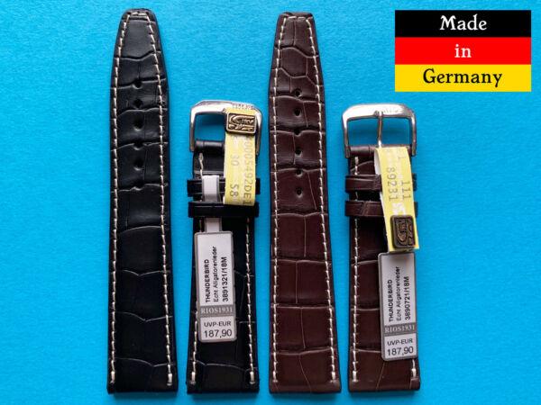 Unparteiisch Alligator Uhrband Für Iwc 20 Und 21mm Deutscher Hersteller Kroko Braun, Schwarz