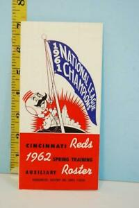 1962 Cincinnati Reds Spring Training Auxilary Roster Hq Causeway Inn Rs184 Ebay