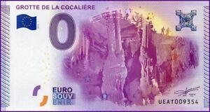 Amical Ue At-1 / Grotte De La Cocaliere / Billet Souvenir 0 Euro / 2015-1