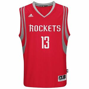 f2e3a595a U13 New ADIDAS Houston Rockets James Harden Red Swingman Jersey ...