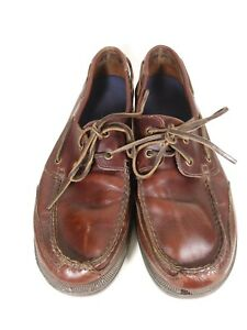 Rockport-Leather-Brown-2-Eye-Boat-Deck-Shoes-Slip-On-Loafers-Mens-11-M