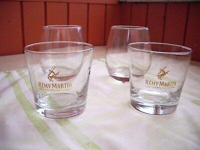10 Cognac-gläser (2 X 2 Motive Remy Martin + 6 Einfache)
