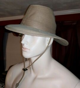 HENSCHEL HAT CO HH FIRM CANVAS AUSSIE KHAKI COWBOY BUSH WACKER M ... f02e1ddde3e