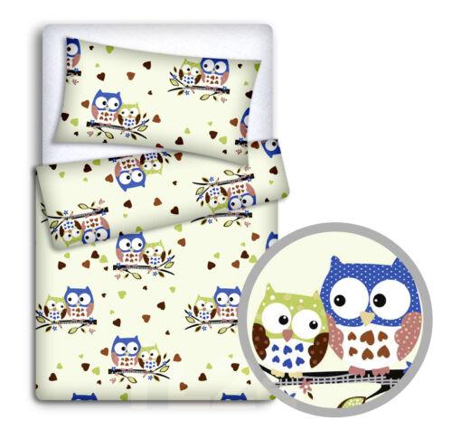 Baby Bettwäsche Set Kissenbezug+Bettbezug 2pc Passend für Kinderbett Cotbed