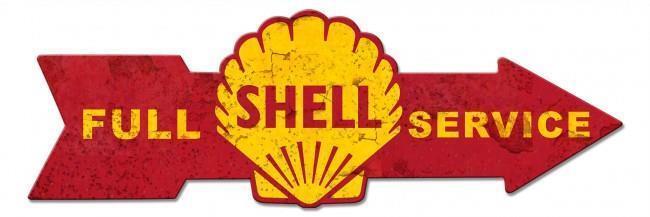 Gas Service Station Oil Gasoline Shell Metal Sign Man Cave Garage Body Shop Club