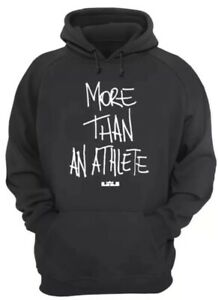 5dad74e32e5d1 NIKE LEBRON JAMES MORE THAN AN ATHLETE PULLOVER HOODIE BLACK CI1404 ...