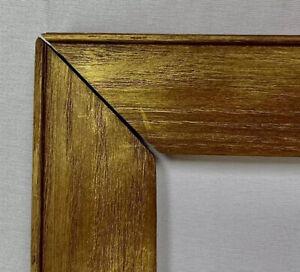 """ANTIQUE FITS 4""""x 8.5"""" OAK GOLD GILT  PICTURE FRAME COUNTRY PRIMITIVE FINE ART"""