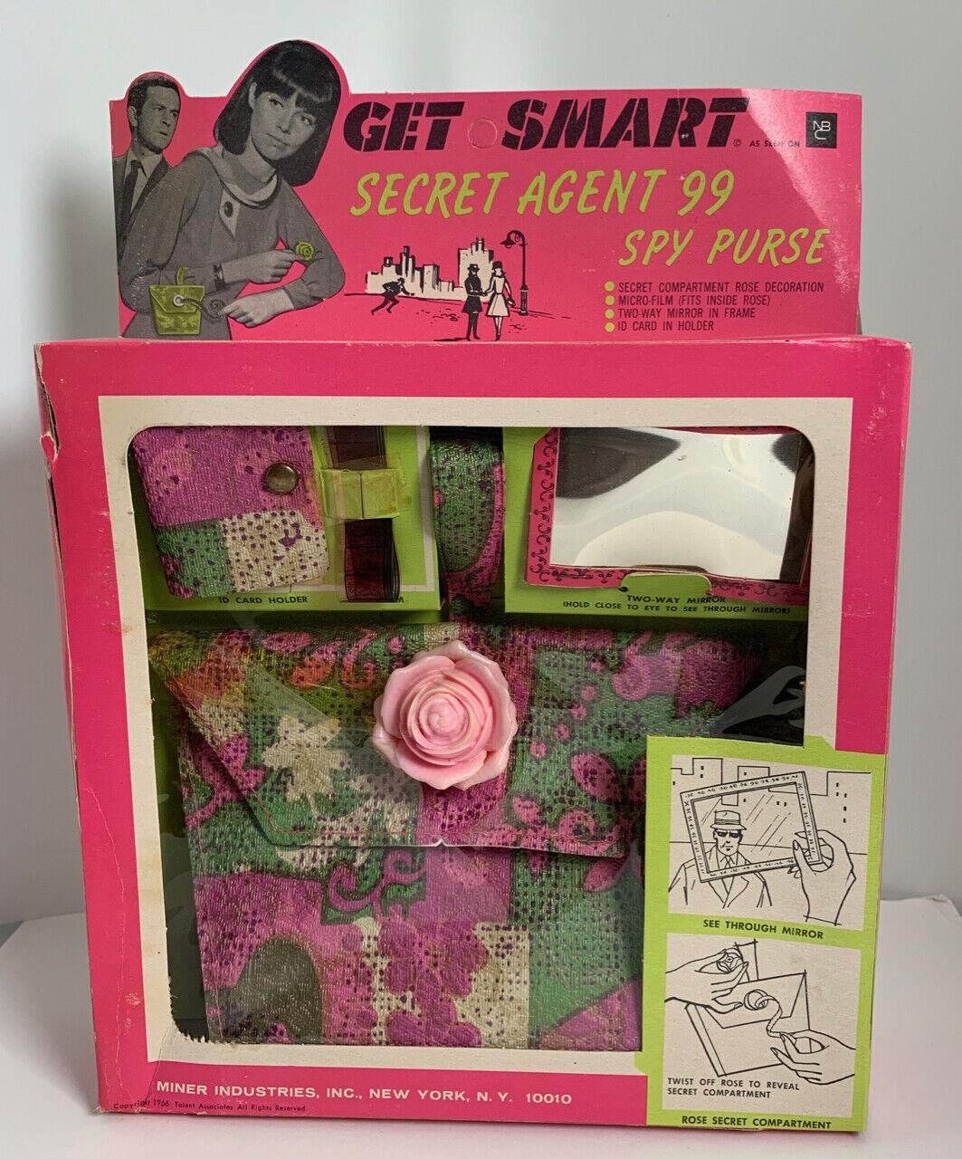 1966 obtenga 99 inteligente Agente Secreto Espía Cartera de menta en caja sin usar stock de tienda