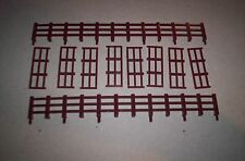LIONEL PARTS 1877 BROWN FENCE SET FOR GENERAL HORSE CARS (2LONG,8SHORT)