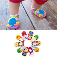 Unisex Baby Kid Toddler Girl Boy Lace Anti-Slip Cotton Socks Shoes Slipper 6-24M