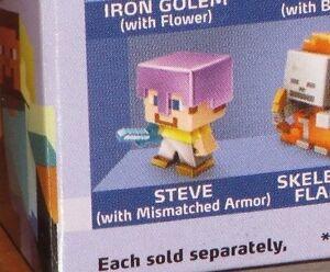 Minecraft Minifigure Ice Series 5 Mystery Minis Steve W// Mismatched Armor NEW