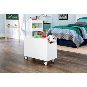 Toy Storage Box Chest Wheels Bin Kids Large Organizer Bedroom Furniture White 313037927906   EBay