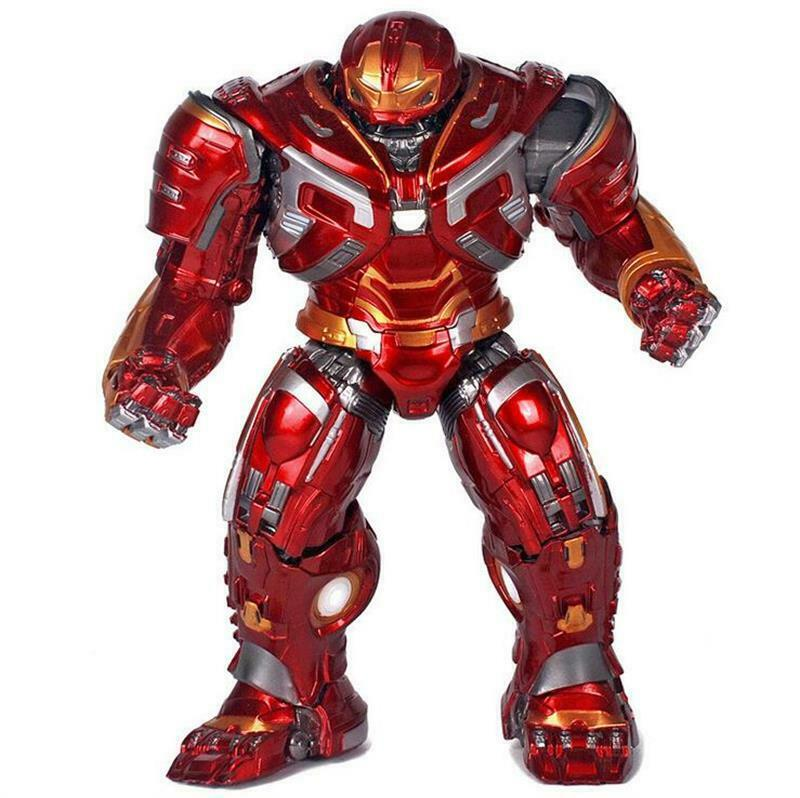 8'' Avengers Iron Man Hulkbuster 2.0 Armor LED Mark44 Action Figure Statue Toy