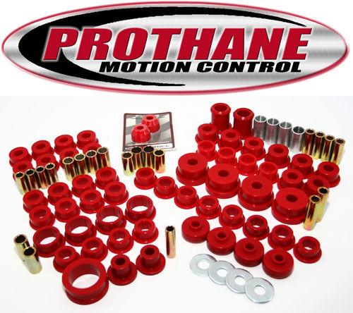 Prothane 84-96 Chevy C4 Corvette Complete TOTAL Suspension Bushing Kit Red