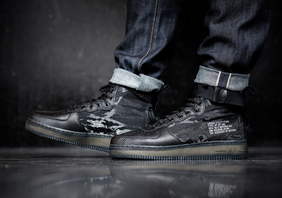 Nike Special Forces Air Force SF 1 Mid SF Force AF1 QS Camo Size 10. AA7345-001 Jordan 42d691
