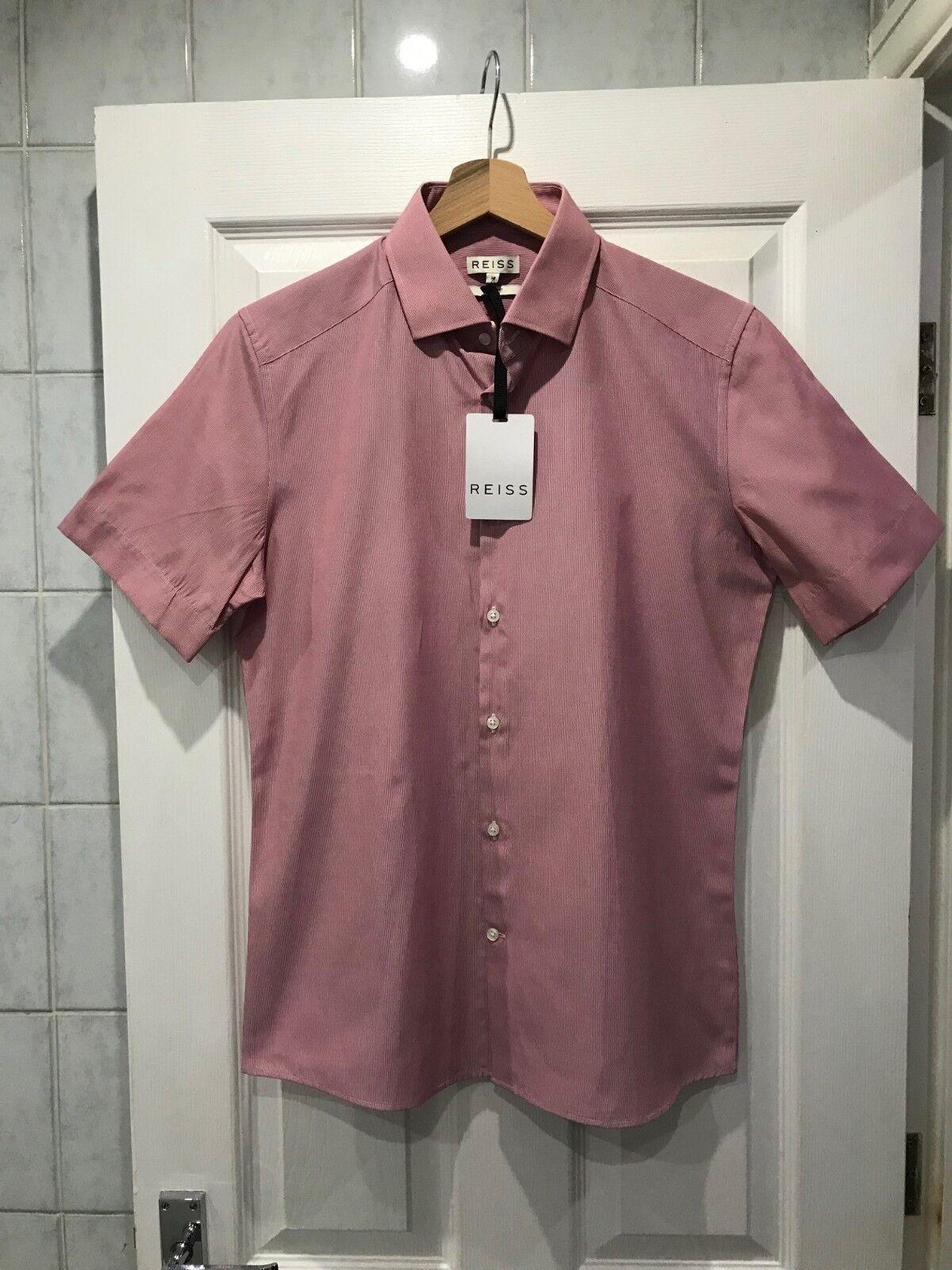 BNWT Reiss 'Payne' Short Sleeve Slim Fit Shirt Size  Medium RRP