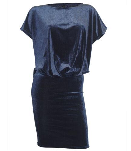 SOYACONCEPT Kleid XS S M L XL dunkelblau Samtkleid Casual Abend neu