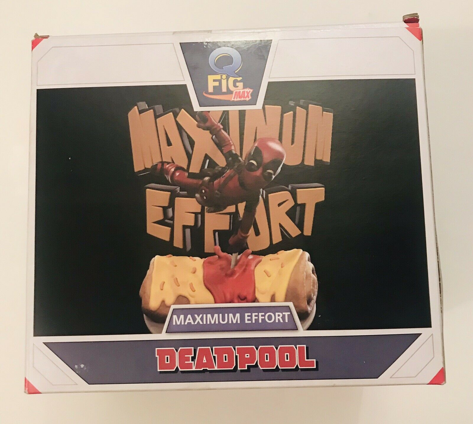 RARE Marvel Comics Q Fig Max Diorama PVC Statue Figure Figure Figure  Deadpool Maximum Effort  281987