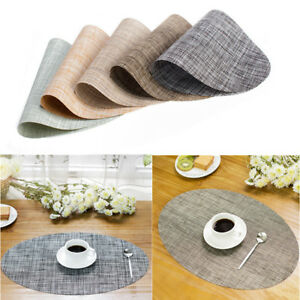 Oval-Table-Placemat-Dining-Place-Mats-Insulation-Pad-Restaurant-Cafe-Coasters