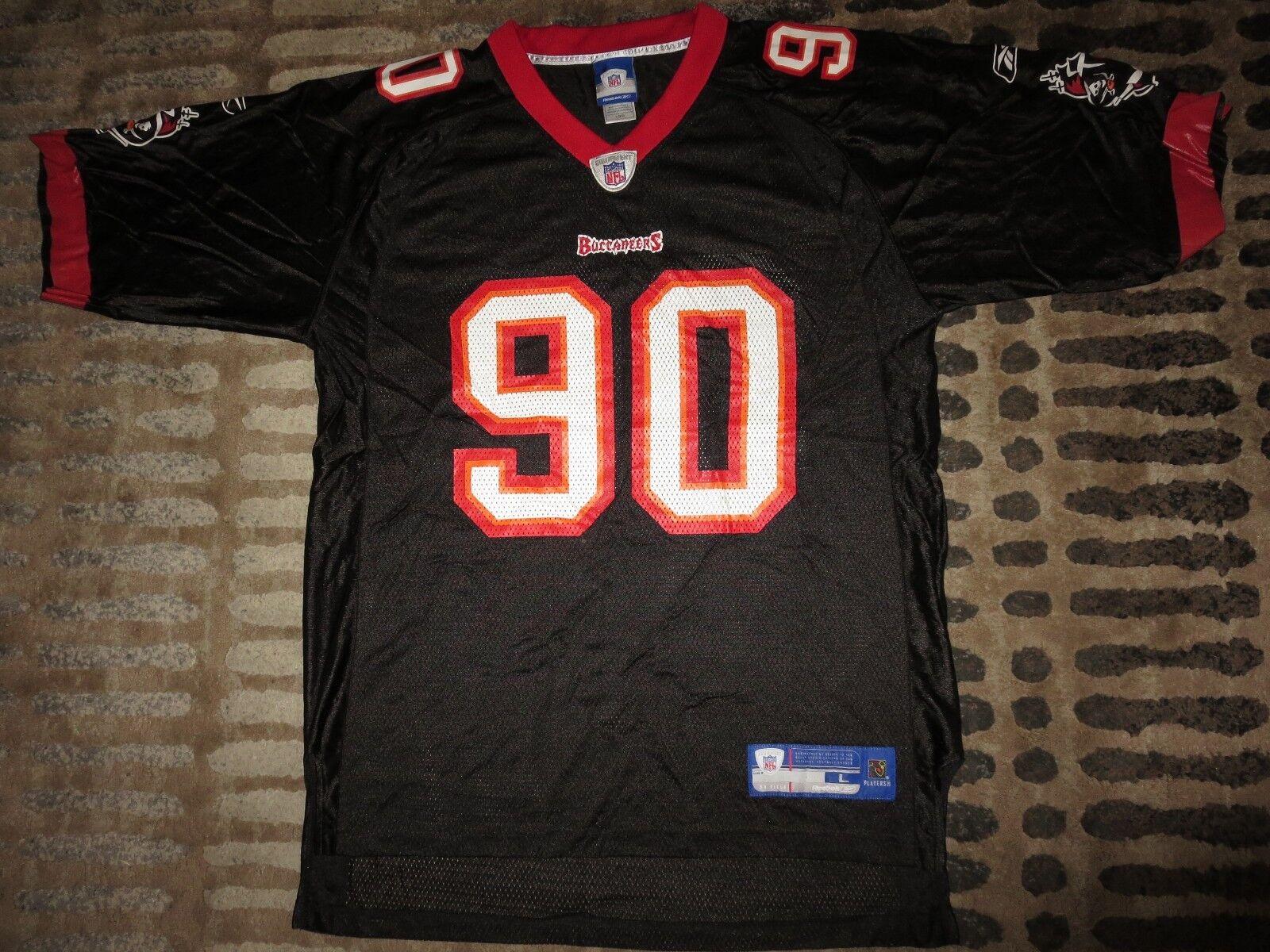 Gaines Adams  90 Tampa Bay Buccaneers Bucs Reebok Camiseta Lg LARGA Hombres