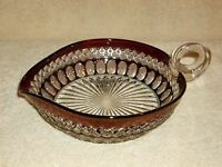 Vintage Westmoreland Ruby Flash Wakefield Heart Candy Nut Dish Nappy Bowl
