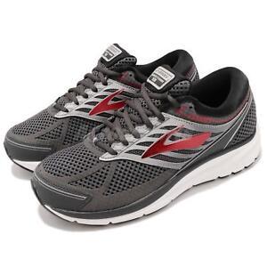 70826cfaf37 Brooks Addiction 13 4E Extra Wide Ebony Black Red Men Running Shoes ...