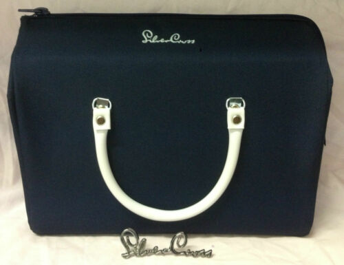 Genuine Silver Cross Dolls Oberon Pram Bag In Navy Blue with straps BRAND  NEW