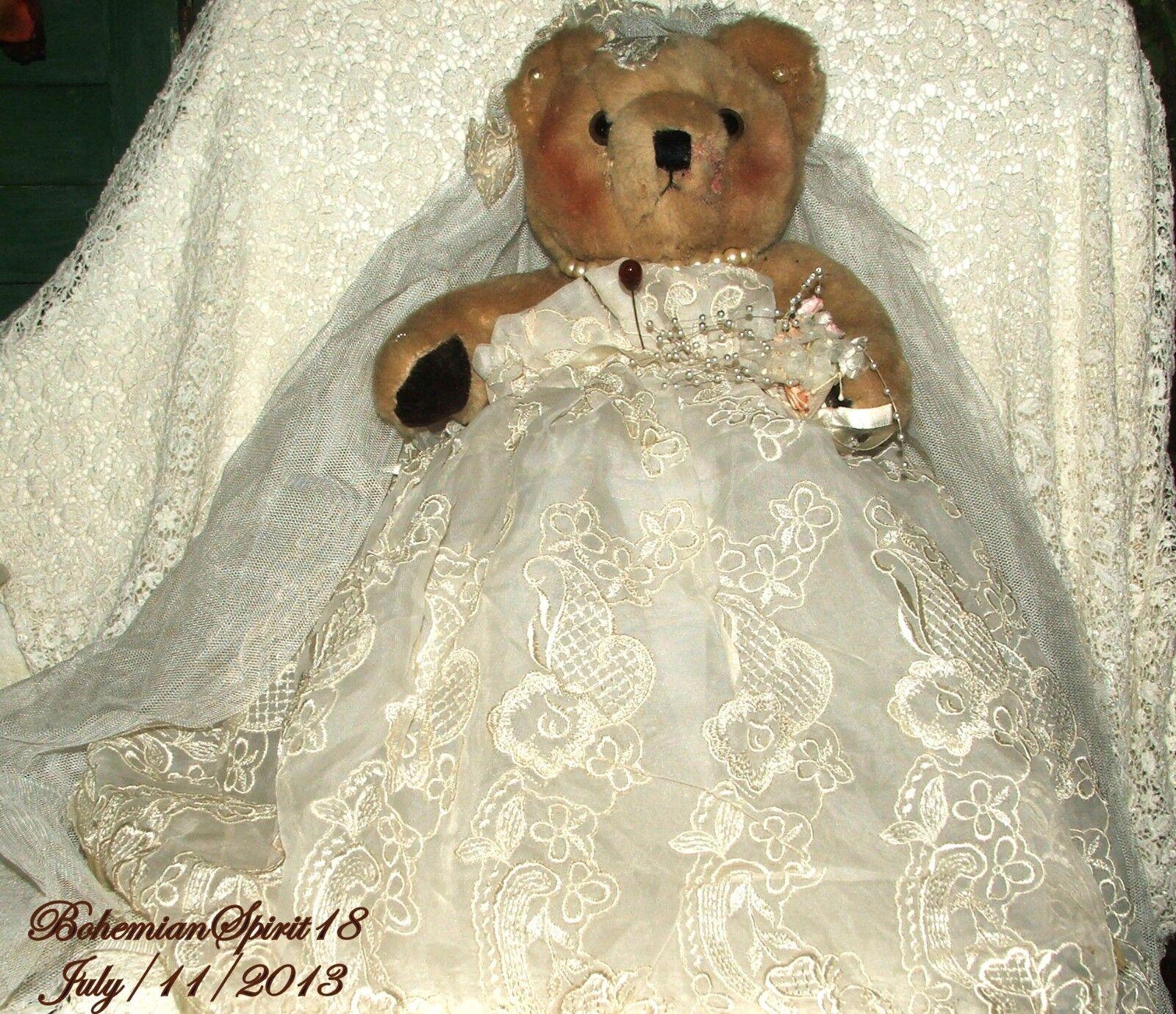 ARTISAN BRIDE AUSTRALIA WOOL POT BEARRI TM BY BOHEMIANSPIRIT ONE OF A KIND BEAR