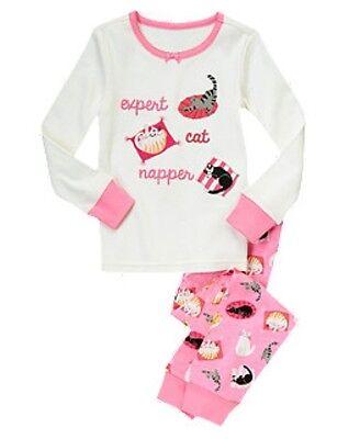 NWT Gymboree Kitty Cat Expert Cat Napper Gymmies Sleep Set Pajamas PJ NEW 7 8