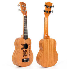 Kmise Sopran Ukulele 21 Zoll Uke Hawaii Gitarre 12 Fret Mahagoni Körper