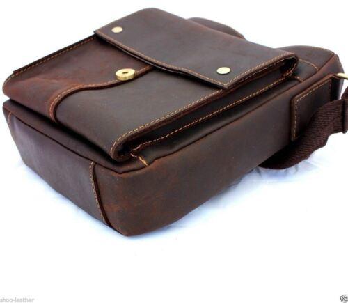 Genuine Leather Shoulder TRAVEL Bag west Messenger man i pad handbag Satchel new