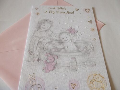 Look Who/'s A Big Sister Now!..........Congratulations Greetings Card