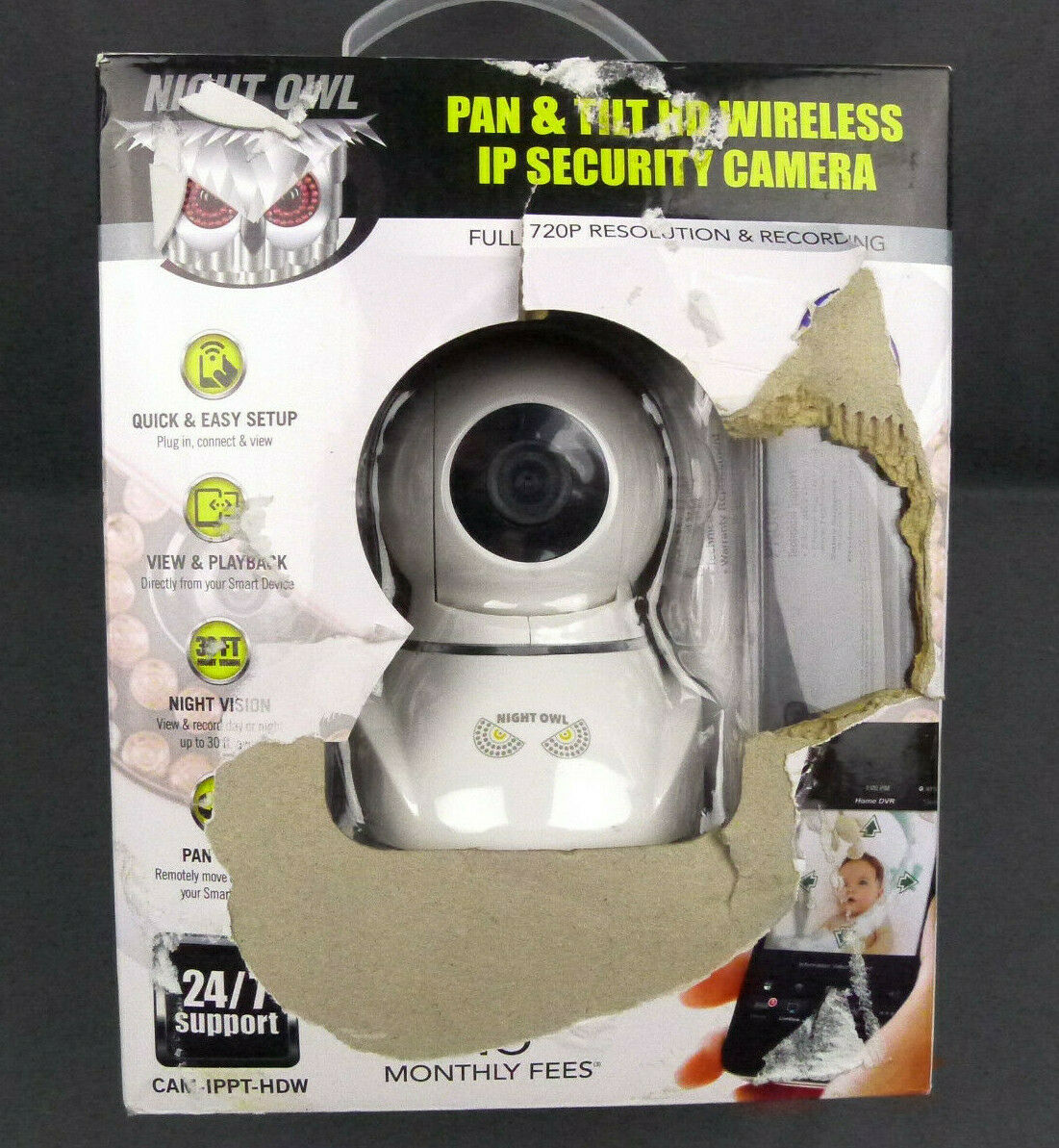Night Owl HD Wireless Pan & Tilt Security Camera With 2 Way Audio  Cam-ippt-hdw