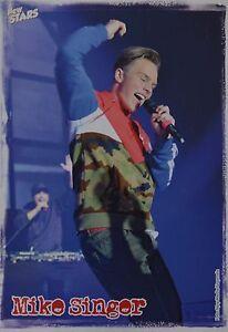 MIKE-SINGER-Star-Card-Foto-Karte-Mini-Poster-Clippings-Fan-Sammlung-NEU