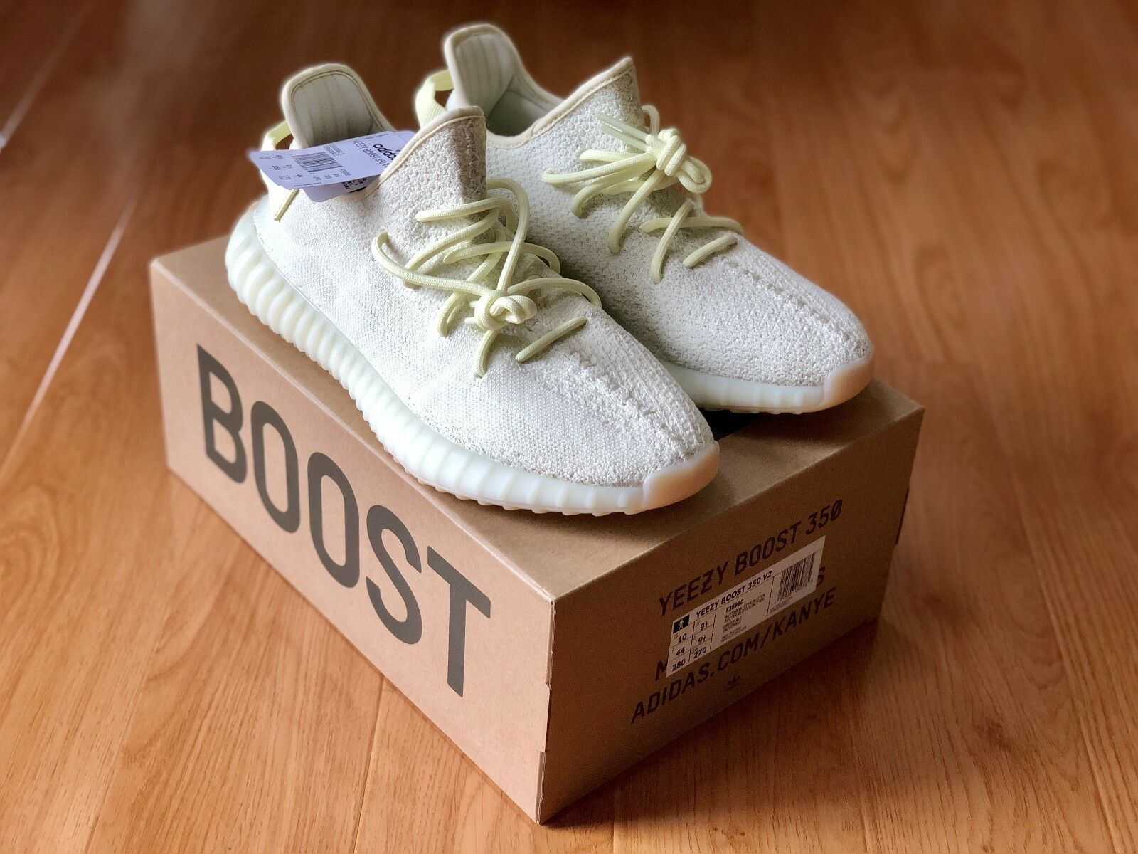 bca945b05 Adidas Yeezy 350 Butter Size 10 Boost V2 nflcgb2159-Athletic Shoes ...