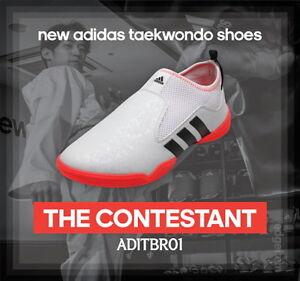 e283313c103 Image is loading Adidas-The-Contestant-Taekwondo-Shoes-Orange-White -ADITBR01-