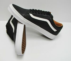 7b0f4f1d55b1b5 Vans Old Skool Premium Leather Black True White VN0A38G1II7 Men s ...