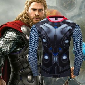 Avengers-1-Thor-Costume-Cosplay-Compression-Tights-Quick-Drying-T-shirt-Tops
