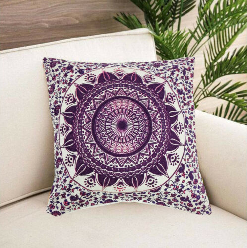 New Ethnic Indian Handmade Cushion Cover Pillow Cotton Soffa Set Home Decorative
