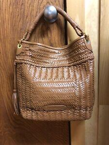 Woven Vachetta Leather Hobo Bag