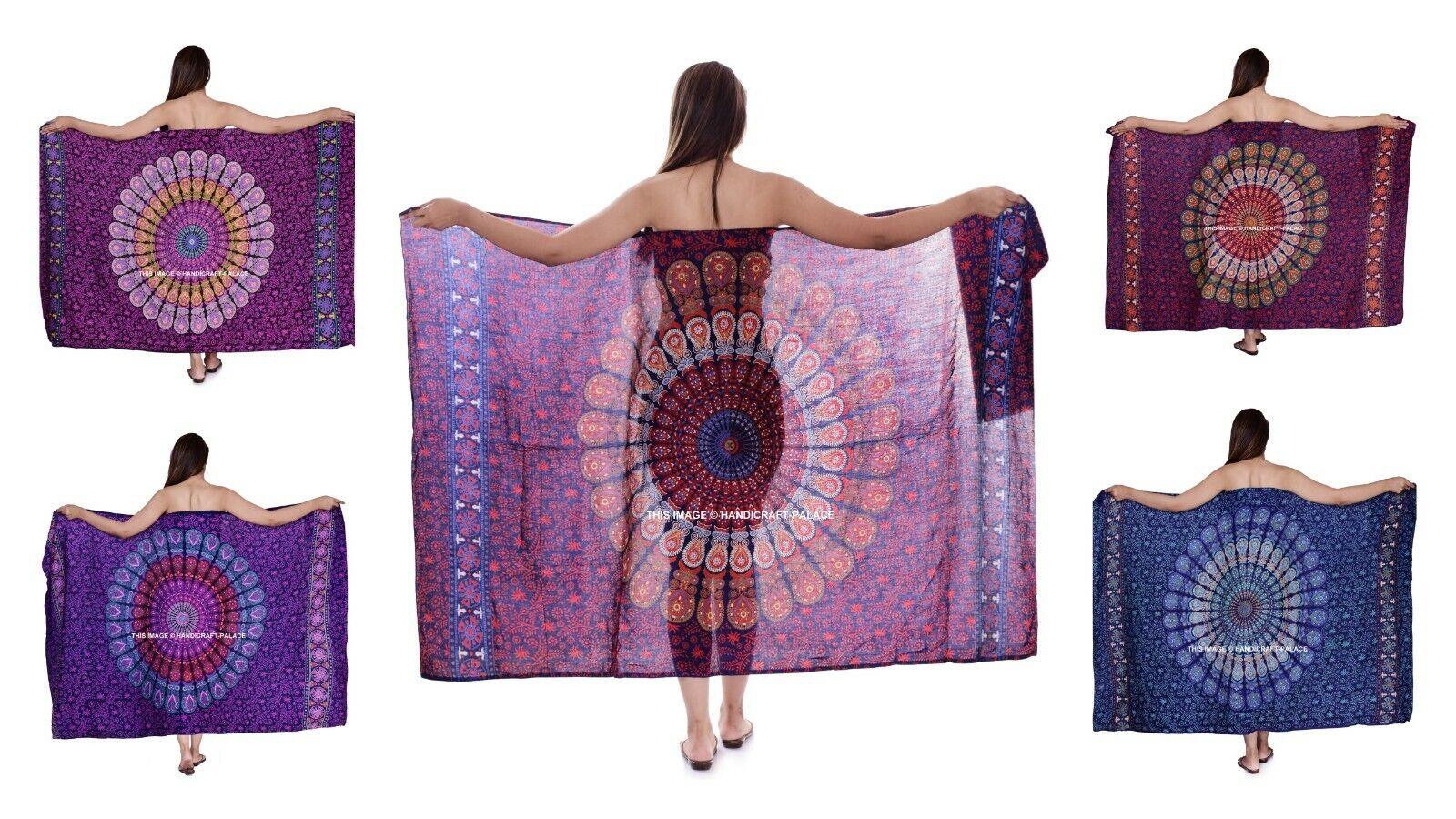10 Pc Lot Sarong strand Klänning Bikini badkläder Cover Up Mandala Sarong Wrap Sbilf