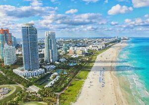 A1-Miami-Beach-Florida-Poster-Art-Print-60-x-90cm-180gsm-America-Gift-12609