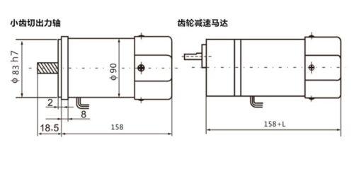 110//220//380V AC Vertical Micro Gear Motor 90W 5IK90GN Constant Speed High Torque