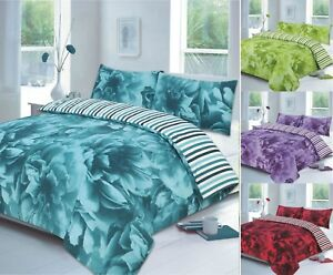 Luxuries-ROSE-FLORAL-Printed-Duvet-Quilt-Cover-PillowCase-Bedding-Set-All-Size