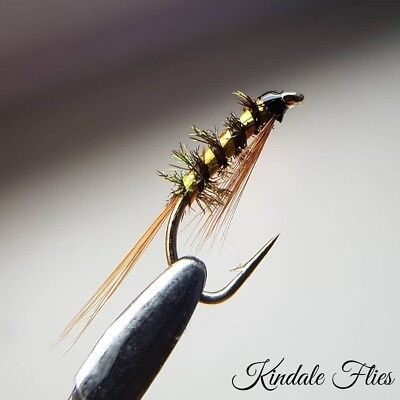 Set of 3 Fly Fishing Red Head Claret Diawl Bach size 12