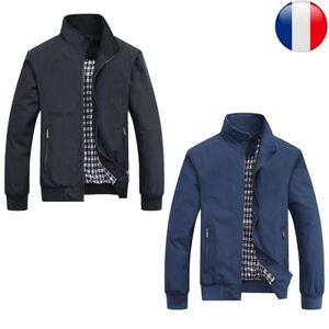 Hommes-Manteau-Vestes-Blouson-Costume-Reguliere-Militaire-Mince-Automne-Hiver-FR