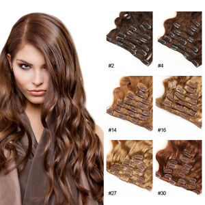 100-Brazilian-Remy-Thick-Clip-In-Body-Wave-Virgin-Human-Hair-Wavy-Extensions