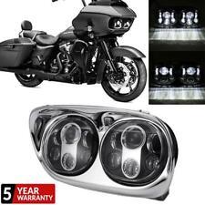 Funlove Black Daymaker Projector LED Headlight for Harley Davidson Road Glide 2004-2013