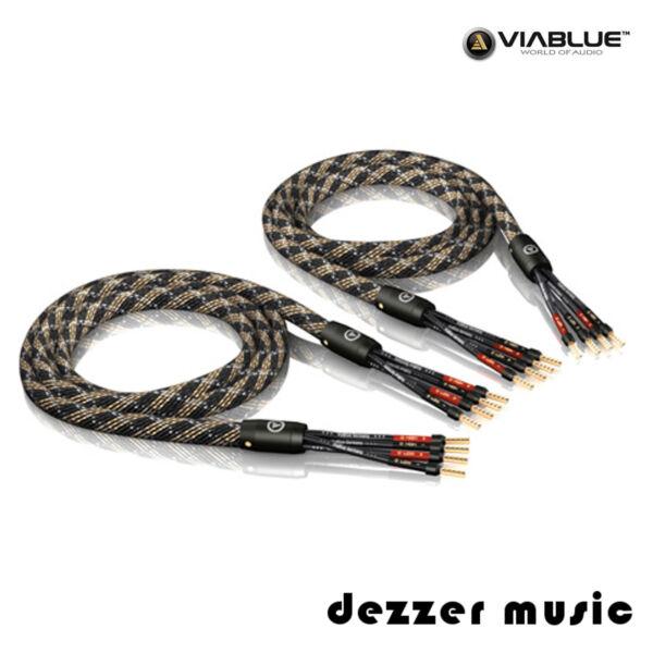 Beschouwend Viablue 2x 5,00m Sc-4 Bi-amping Crimped High End Lautsprecherkabel Aderendhülsen Goede Smaak