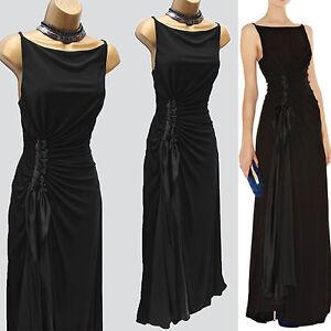b446644bac4 Image is loading Karen-Millen-Black-Jersey-Drape-Long-Gown-Maxi-